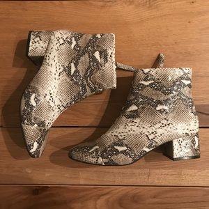 ZARA snakeskin ankle boots (reposh)